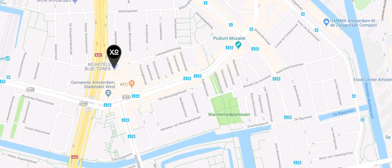 Location and travel directions for xo hotels blue tower freerunsca Gallery